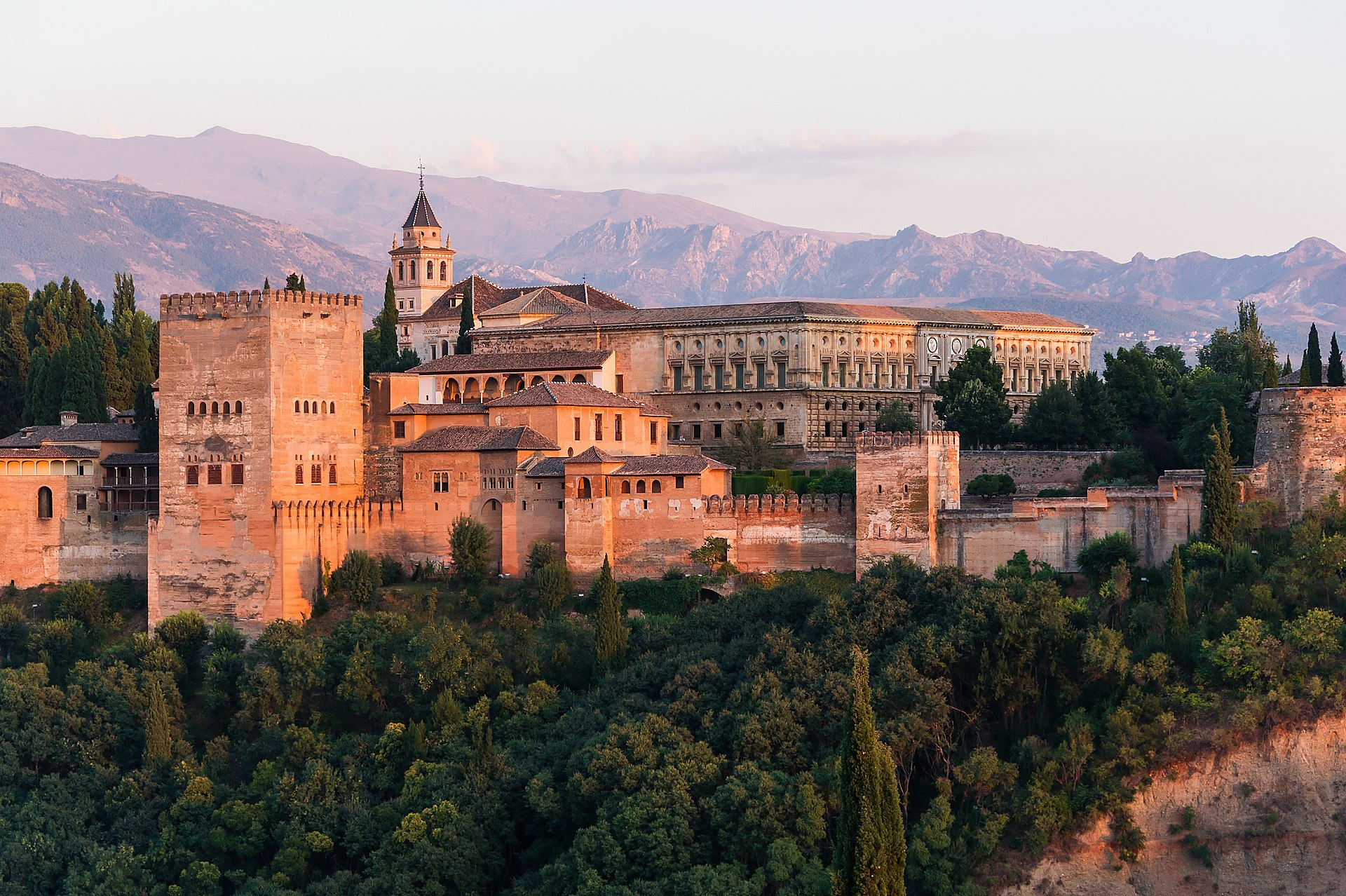 Dawn Charles V Palace Alhambra Granada Andalusia Spain